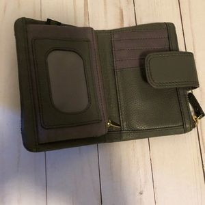 Fossil Bags - Fossil Leather Tri-fold Wallet Dark Gray